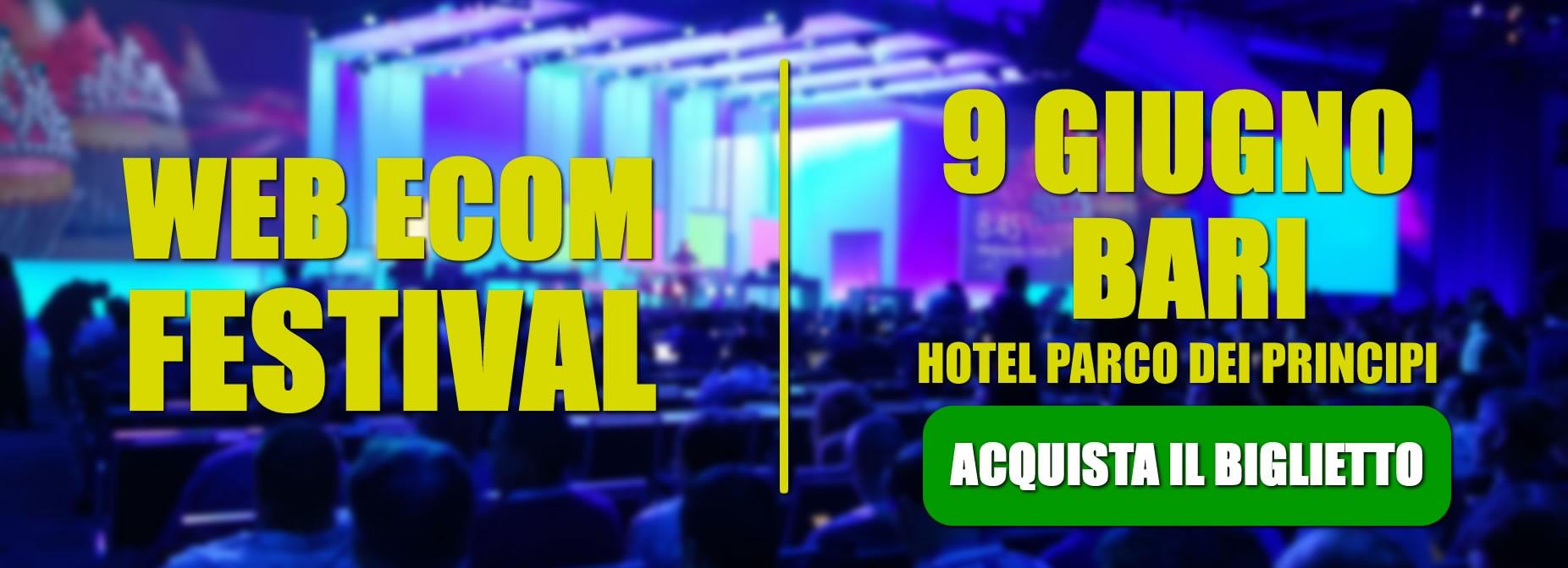 Web ecom festival 9 Giugno Bari